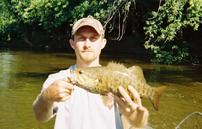 Kalamazoo RIver smallmouth bass. Kalamazoo River Fishing Guide.